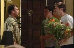 Roger Bushby, Matt Hancock, Evan Hancock  in Neighbours Episode 3986