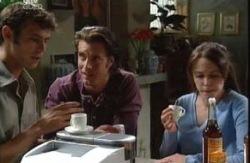 Malcolm Kennedy, Drew Kirk, Libby Kennedy  in Neighbours Episode 3986