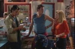 Drew Kirk, Stuart Parker, Dee Bliss, Ben Kirk in Neighbours Episode 3989