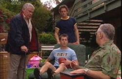 Lou Carpenter, Stuart Parker, Damian Slattery, Harold Bishop in Neighbours Episode 3991
