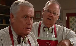 Lou Carpenter, Harold Bishop in Neighbours Episode 4769