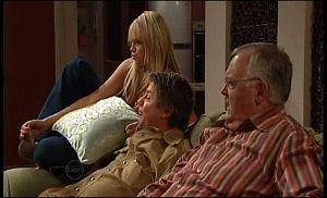 Sky Mangel, Joe Mangel, Harold Bishop in Neighbours Episode 4774