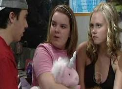 Stingray Timmins, Bree Timmins, Janae Timmins in Neighbours Episode 4960