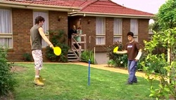 Dylan Timmins, Janelle Timmins, Susan Kennedy, Stingray Timmins in Neighbours Episode 4690