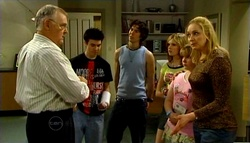 Harold Bishop, Stingray Timmins, Dylan Timmins, Janae Timmins, Bree Timmins, Janelle Timmins in Neighbours Episode 4692