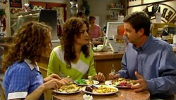 Serena Bishop, Liljana Bishop, David Bishop in Neighbours Episode 4693