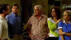 Paul Robinson, David Bishop, Lou Carpenter, Liljana Bishop, Sky Mangel in Neighbours Episode 4693