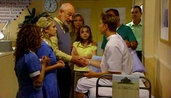 Serena Bishop, Sky Mangel, Dr Jeremy Levi, Steph Scully, Summer Hoyland, Boyd Hoyland, Karl Kennedy in Neighbours Episode 4694