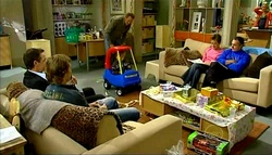 Paul Robinson, Robert Robinson, Max Hoyland, Oscar Scully, Susan Kennedy, Karl Kennedy in Neighbours Episode 5033