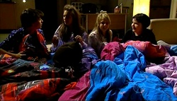 Zeke Kinski, Rachel Kinski, Anne Baxter, Bree Timmins in Neighbours Episode 5034