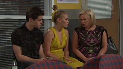 Ben Kirk, Xanthe Canning, Sheila Canning in Neighbours Episode 7727