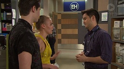 Ben Kirk, Xanthe Canning, David Tanaka in Neighbours Episode 7727