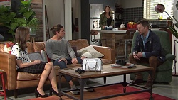 Fay Brennan, Tyler Brennan, Paige Novak, Mark Brennan in Neighbours Episode 7728