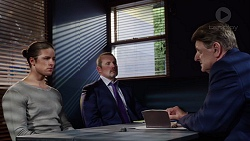 Tyler Brennan, Toadie Rebecchi, Det. Bill Graves in Neighbours Episode 7728