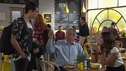 Ben Kirk, Karl Kennedy, Elly Conway in Neighbours Episode 7730