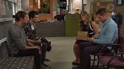 Tyler Brennan, Ben Kirk, Paige Novak, Mark Brennan in Neighbours Episode 7730