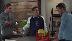 Tyler Brennan, Aaron Brennan, Mark Brennan in Neighbours Episode 7731