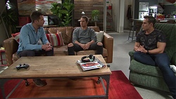 Mark Brennan, Tyler Brennan, Aaron Brennan in Neighbours Episode 7731