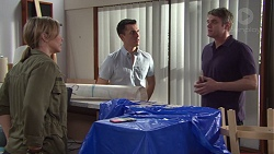 Steph Scully, Jack Callaghan, Gary Canning in Neighbours Episode 7732