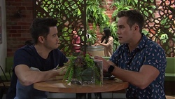David Tanaka, Aaron Brennan in Neighbours Episode 7732