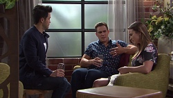 David Tanaka, Aaron Brennan, Amy Williams in Neighbours Episode 7733