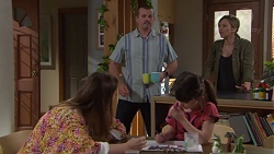 Toadie Rebecchi, Steph Scully, Sonya Mitchell, Nell Rebecchi in Neighbours Episode 7733
