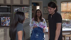 Mishti Sharma, Dipi Rebecchi, Leo Tanaka in Neighbours Episode 7734