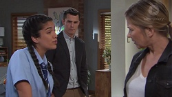Yashvi Rebecchi, Jack Callaghan, Steph Scully in Neighbours Episode 7735