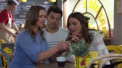 Amy Williams, David Tanaka, Elly Conway in Neighbours Episode 7735