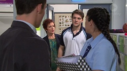 Jack Callaghan, Susan Kennedy, Luke Browne, Yashvi Rebecchi in Neighbours Episode 7735