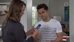 Amy Williams, David Tanaka in Neighbours Episode 7736