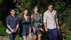 David Tanaka, Amy Williams, Elly Conway, Aaron Brennan in Neighbours Episode 7736