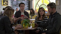 Piper Willis, Tyler Brennan, Ben Kirk, Paige Novak, Mark Brennan in Neighbours Episode 7737