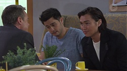 Paul Robinson, David Tanaka, Leo Tanaka in Neighbours Episode 7737