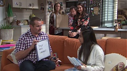Toadie Rebecchi, Sonya Mitchell, Shane Rebecchi, Dipi Rebecchi, Kirsha Rebecchi in Neighbours Episode 7738