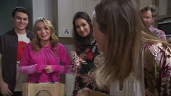 Ben Kirk, Xanthe Canning, Dipi Rebecchi, Sonya Mitchell, Shane Rebecchi in Neighbours Episode 7738