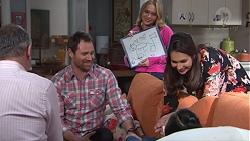 Karl Kennedy, Shane Rebecchi, Xanthe Canning, Dipi Rebecchi, Kirsha Rebecchi in Neighbours Episode 7738