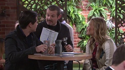 Ben Kirk, Toadie Rebecchi, Xanthe Canning in Neighbours Episode 7739