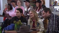 Ben Kirk, Xanthe Canning, Shane Rebecchi in Neighbours Episode 7739
