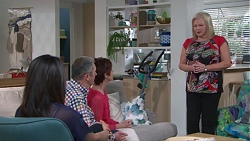 Dipi Rebecchi, Karl Kennedy, Susan Kennedy, Sheila Canning in Neighbours Episode 7744