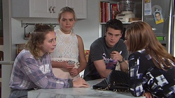 Piper Willis, Xanthe Canning, Ben Kirk, Terese Willis in Neighbours Episode 7744