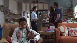 Kirsha Rebecchi, David Tanaka, Dipi Rebecchi, Shane Rebecchi in Neighbours Episode 7745
