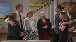 Terese Willis, Gary Canning, Xanthe Canning, Sheila Canning, Tyler Brennan, Piper Willis in Neighbours Episode 7746