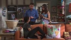 Shane Rebecchi, Dipi Rebecchi, Yashvi Rebecchi in Neighbours Episode 7747