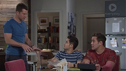 Mark Brennan, David Tanaka, Aaron Brennan in Neighbours Episode 7748