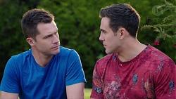 Mark Brennan, Aaron Brennan in Neighbours Episode 7748