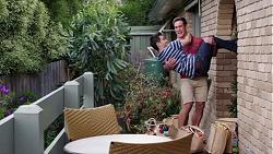 David Tanaka, Aaron Brennan in Neighbours Episode 7748
