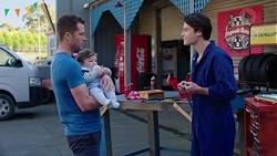 Mark Brennan, Gabriel Smith, Ben Kirk in Neighbours Episode 7749