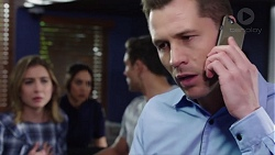 Piper Willis, Mishti Sharma, Aaron Brennan, Mark Brennan in Neighbours Episode 7751
