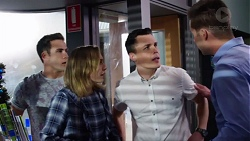 Aaron Brennan, Piper Willis, Jack Callaghan, Mark Brennan in Neighbours Episode 7751